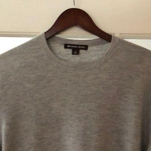MICHAEL KORS Grey Cashmere Sweater XL
